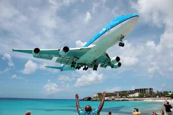 Karibik, St Maarten, Phillipsburg-Flughafen ( Urlaub, Reisen, Lastminute-Reisen, Pauschalreisen )