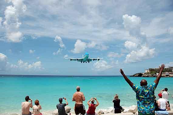 Karibik-Insel St Maarten, Phillipsburg-Flughafen ( Urlaub, Reisen, Lastminute-Reisen, Pauschalreisen )