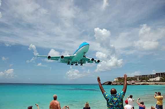 Karibik-Insel St Maarten, Phillipsburg-Flughafen (Antillen) ( Urlaub, Reisen, Lastminute-Reisen, Pauschalreisen )