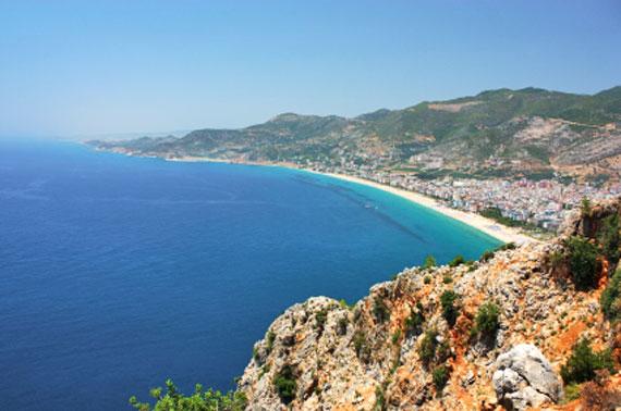Kleopatra-Strand in Alanya, Türkische Riviera, Türkei ( Urlaub, Reisen, Lastminute-Reisen, Pauschalreisen )