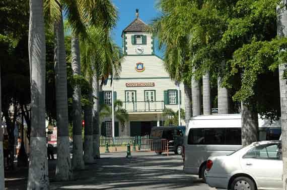 Karibik-Insel St Maarten, Philipsburg - Courthouse (Kleine Antillen) ( Urlaub, Reisen, Lastminute-Reisen, Pauschalreisen )