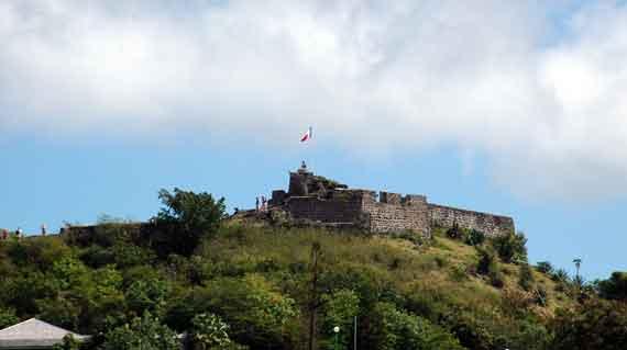 Karibik-Insel St Martin, Marigot, Fort Louis (Kleine Antillen) ( Urlaub, Reisen, Lastminute-Reisen, Pauschalreisen )