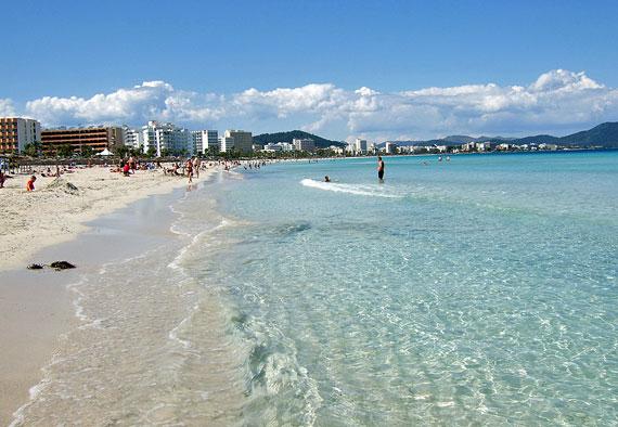 Strand von Cala Millor, Mallorca, Balearen ( Urlaub, Reisen, Lastminute-Reisen, Pauschalreisen )