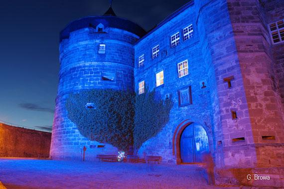 Kronach Leuchtet ( Festung Rosenberg ), Frankenwald, Bayern, Deutschland