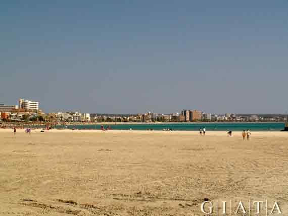 Sandstrand von Can Pastilla, Playa de Palma, Mallorca, Spanien (Reisen, Urlaub)