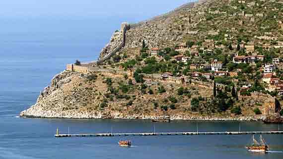 Seldschukische Burg Alanya, Türkische Riviera, Türkei ( Urlaub, Reisen, Lastminute-Reisen, Pauschalreisen )