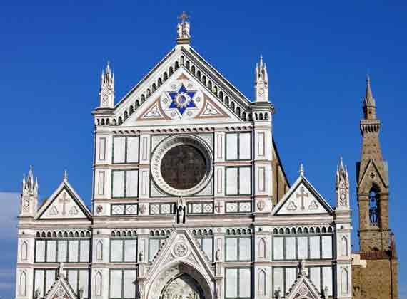 Italien, Toskana, Florenz - Die Kirche von Santa Croce (Urlaub, Reisen, Last-Minute-Reisen, Pauschalreisen)
