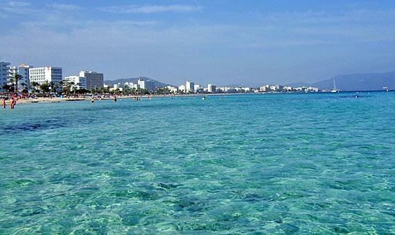 Strand von Cala Millor, Mallorca, Spanien ( Urlaub, Reisen, Lastminute-Reisen, Pauschalreisen )