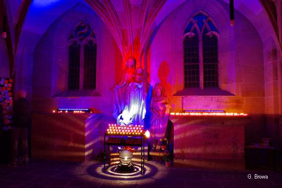 Kronach Leuchtet ( Kapelle Sankt Anna ), Frankenwald, Bayern, Deutschland