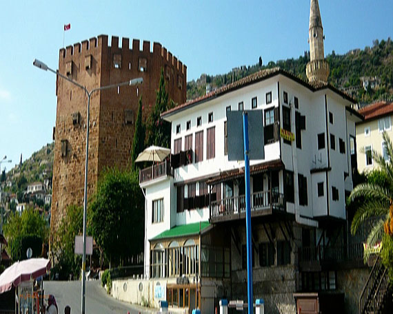 Roter Turm Alanya, Türkische Riviera, Türkei ( Urlaub, Reisen, Lastminute-Reisen, Pauschalreisen )