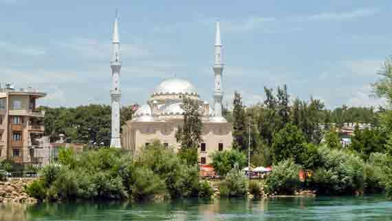Moschee in Manavgat, Side, Türkische Riviera, Türkei ( Urlaub, Reisen, Lastminute-Reisen, Pauschalreisen )