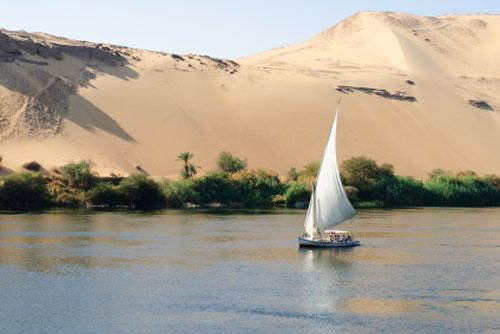 Ägypten, Felucca auf dem Nil ( Urlaub, Reisen, Lastminute-Reisen, Pauschalreisen )