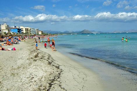 Mallorca - Strand von Ca`n Picafort ( Urlaub, Reisen, Lastminute-Reisen, Pauschalreisen )