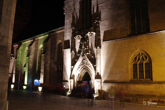 Kronach Leuchtet ( Stadtpfarrkirche Sankt Johannes ), Frankenwald, Bayern, Deutschland