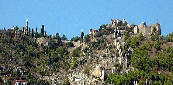 Seldschukische Burg in Alanya, Türkische Riviera, Türkei ( Urlaub, Reisen, Lastminute-Reisen, Pauschalreisen )