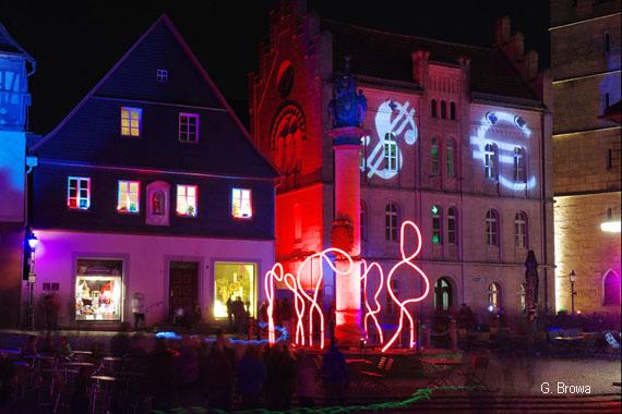 Kronach Leuchtet ( Melchior-Otto-Platz ), Frankenwald, Bayern, Deutschland