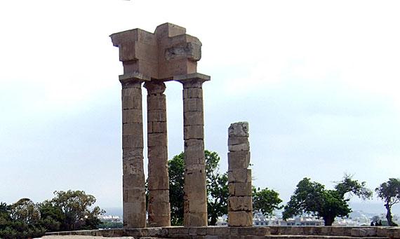Griechische Insel Rhodos (Dodekanes Inseln) - Rhodos Akropolis: Der Apollo Tempel ( Urlaub, Reisen, Lastminute-Reisen, Pauschalreisen )