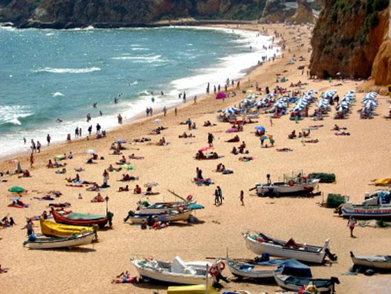 Portugal, Algarve - Strand von Albufeira ( Urlaub, Reisen, Lastminute-Reisen, Pauschalreisen )