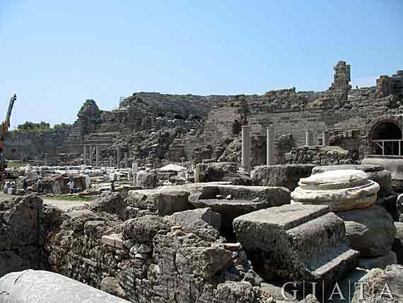 Antikes Side, Türkische Riviera, Türkei ( Urlaub, Reisen, Lastminute-Reisen, Pauschalreisen )