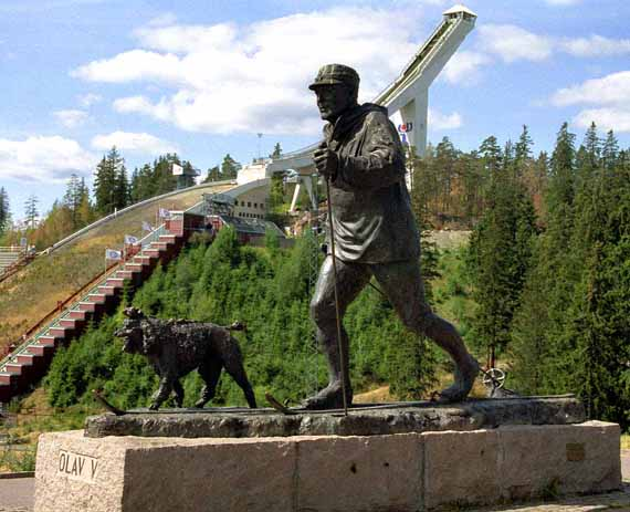 Norwegen, Statue von König Harald ( Urlaub, Reisen, Lastminute-Reisen, Pauschalreisen )