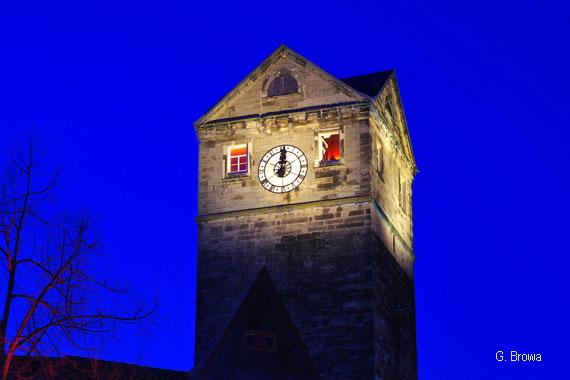 Kronach Leuchtet ( Stadtturm ), Frankenwald, Bayern, Deutschland