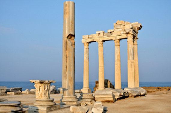 Tempel des Apollon in Side, Türkische Rivera, Türkei ( Urlaub, Reisen, Lastminute-Reisen, Pauschalreisen )