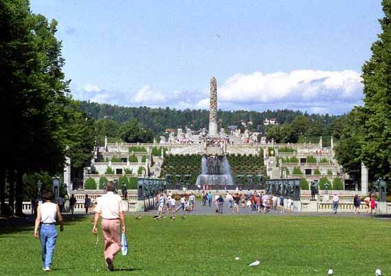 Norwegen, Oslo, Vigelandpark, dem Lebenswerk des Bildhauers Gustav Vigeland ( Urlaub, Reisen, Lastminute-Reisen, Pauschalreisen )