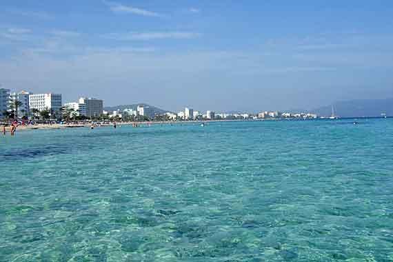 Strand Cala Millor, Mallorca, Balearen (Urlaub, Reisen, Last-Minute-Reisen, Pauschalreisen)