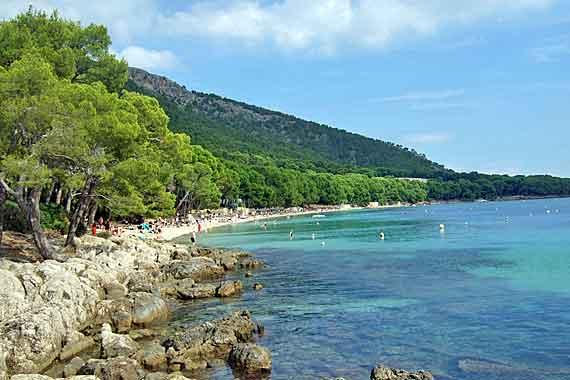 Strand Playa de Formentor / Platja Formentor, Mallorca, Balearen