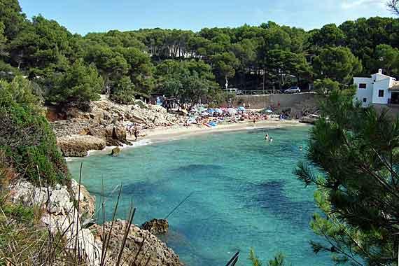 Strand Cala Gat, Cala Rajada, Mallorca, Balearen