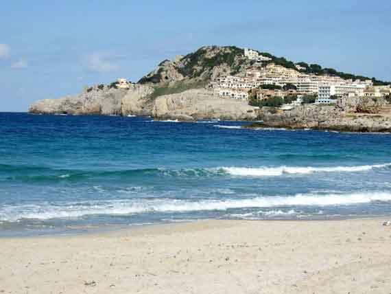 Strand Cala Agulla, Cala Rajada, Mallorca, Balearen