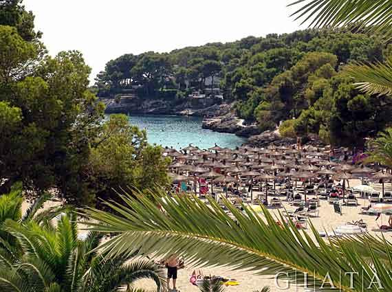 Strand Cala Ferrera in Cala D Or, Mallorca, Balearen