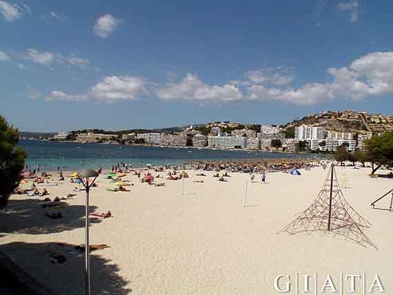 Strand Santa Ponsa, Mallorca, Balearen