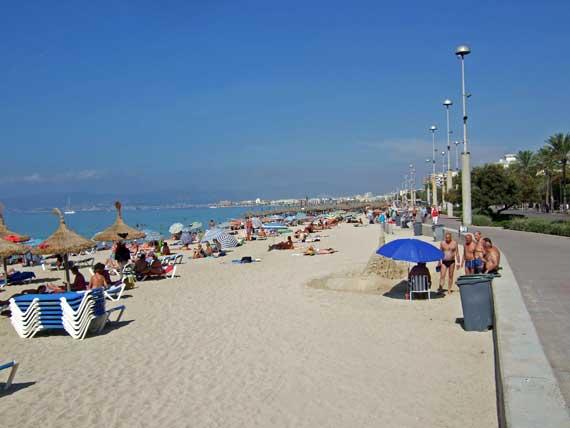 Strand Playa de Palma (Platja de Palma), Palma de Mallorca, Balearen