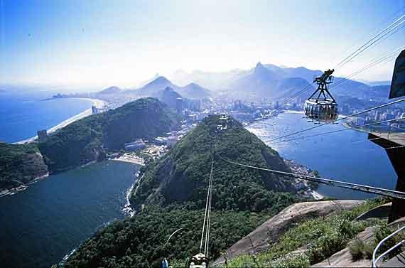 Brasilien, Rio de Janeiro - Blick vom Corcovado auf Rio (Zuckerhut) ( Urlaub, Reisen, Lastminute-Reisen, Pauschalreisen )