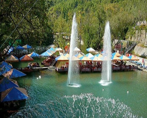 Taurus-Gebirge, Dim Bach Picknickplatz bei Alanya, Türkische Riviera, Türkei ( Urlaub, Reisen, Lastminute-Reisen, Pauschalreisen )