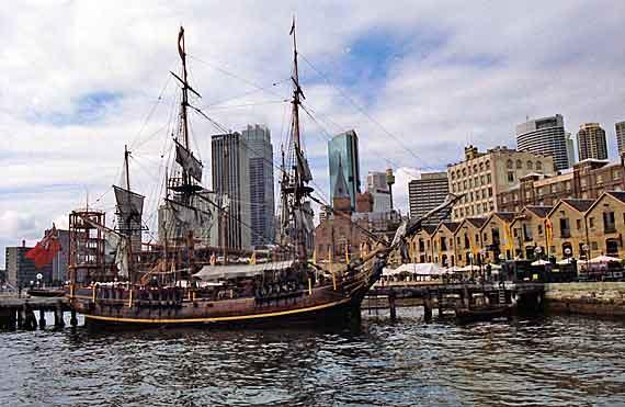 Australien, Sydney - Historisches Segelschiff ( Urlaub, Reisen, Lastminute-Reisen, Pauschalreisen )