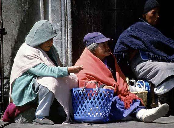 Ecuador - Bettler in Quito ( Urlaub, Reisen, Lastminute-Reisen, Pauschalreisen )