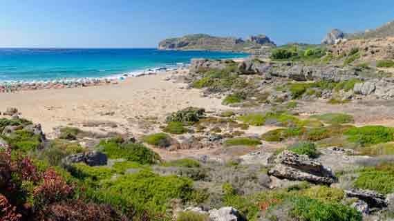 Falassarna-Beach in Westkreta, Kreta, Griechische Insel ( Urlaub, Reisen, Lastminute-Reisen, Pauschalreisen )