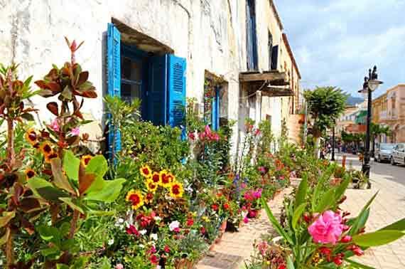 Griechenland, Altstadt von Paleochora auf Kreta (Griechische Insel, Kykladen Inseln) ( Urlaub, Reisen, Lastminute-Reisen, Pauschalreisen )