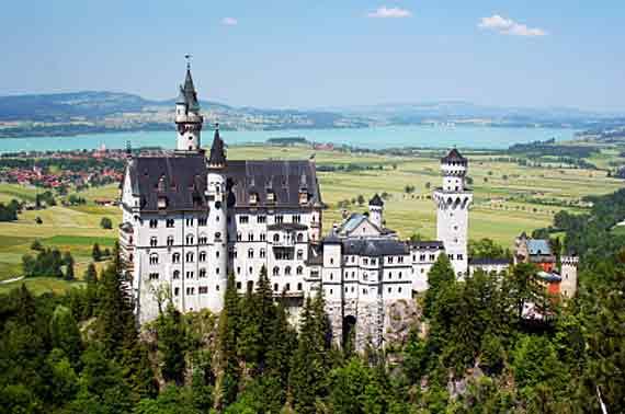 Bayern, Oberbayern, Bayerische Schloesser, Schloss Neuschwanstein (Reisen, Urlaub)