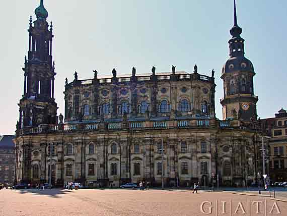 Hofkirche in Dresden, Sachsen, Deutschland (Reisen, Urlaub)