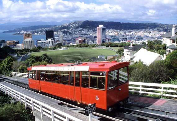 Neuseeland, Cable Car in Wellington ( Urlaub, Reisen, Lastminute-Reisen, Pauschalreisen )