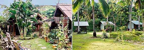 Thailand, Dorf aus Bambushütten ( Urlaub, Reisen, Lastminute-Reisen, Pauschalreisen )
