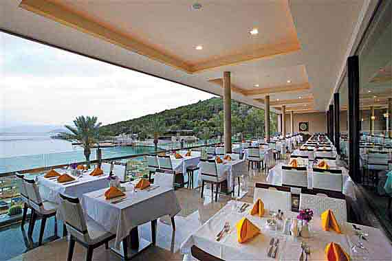 Hotel Voyage Türkbükü Hauptrestaurant - Halbinsel Bodrum, Türkei Südägäis ( Urlaub, Reisen, Lastminute-Reisen, Pauschalreisen )