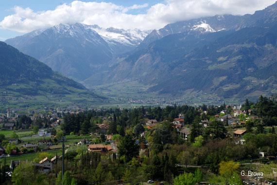 Die Gärten von Schloss Trauttmansdorff in Meran, Südtirol, Italien