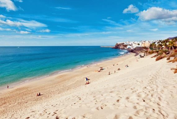Kanaren, Fuerteventura - Jandia Strand und die Altstadt von Morro Jable ( Urlaub, Reisen, Lastminute-Reisen, Pauschalreisen )