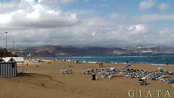 Gran Canaria, Las Palmas - Strand ( Urlaub, Reisen, Lastminute-Reisen, Pauschalreisen )
