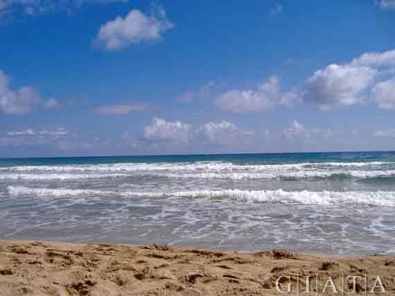 Strand von Stalida, Kreta, Griechischel Insel, Kykladen Inseln ( Urlaub, Reisen, Lastminute-Reisen, Pauschalreisen )