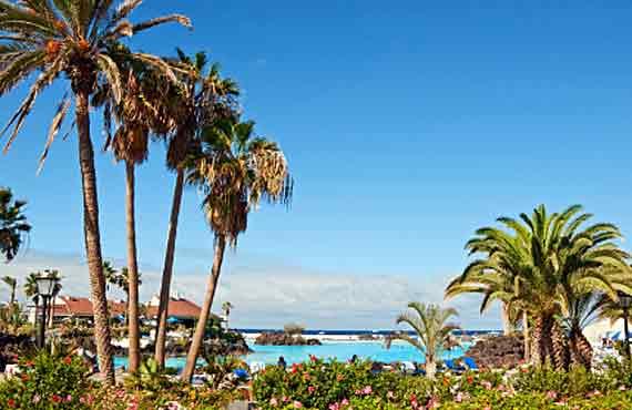 Teneriffa, Puerto de la Cruz - Poollandschaft Lago Martiánez ( Urlaub, Reisen, Lastminute-Reisen, Pauschalreisen )